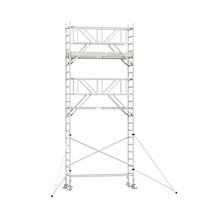 Professionele rolsteiger 7.20m werkhoogte x 75cm breedte x 190cm platformlengte