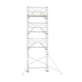 9.20m werkhoogte x 75cm breedte x 190cm platformlengte