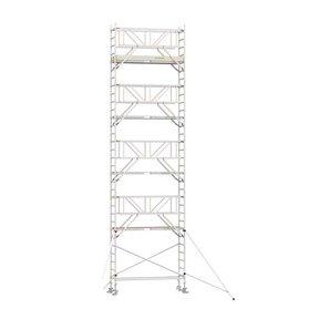 10.20m werkhoogte x 75cm breedte x 190cm platformlengte