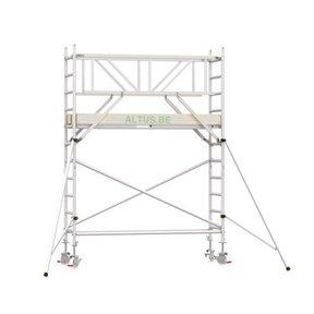4.20m werkhoogte x 75cm breedte x 250cm platformlengte