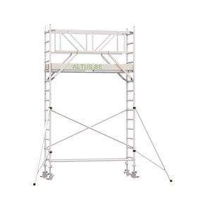5.20m werkhoogte x 90cm breedte x 190cm platformlengte