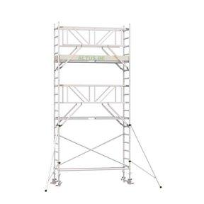 6.20m werkhoogte x 90cm breedte x 190cm platformlengte