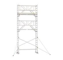 Professionele rolsteiger 7.20m werkhoogte x 90cm breedte x 190cm platformlengte