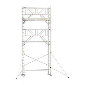 7.20m werkhoogte x 90cm breedte x 190cm platformlengte