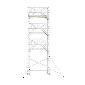 9.20m werkhoogte x 90cm breedte x 190cm platformlengte