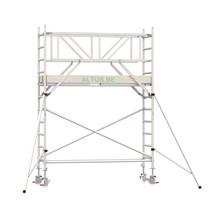 Professionele rolsteiger 4.20m werkhoogte x 90cm breedte x 250cm platformlengte