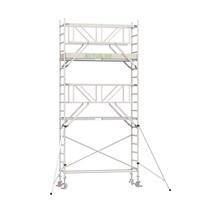 Professionele rolsteiger 6.20m werkhoogte x 90cm breedte x 250cm platformlengte