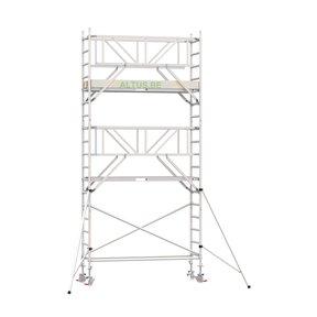 6.20m werkhoogte x 90cm breedte x 250cm platformlengte