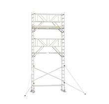 Professionele rolsteiger 7.20m werkhoogte x 90cm breedte x 250cm platformlengte