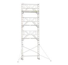 Professionele rolsteiger 9.20m werkhoogte x 90cm breedte x 250cm platformlengte