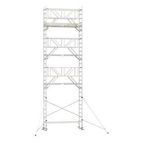9.20m werkhoogte x 90cm breedte x 250cm platformlengte