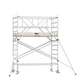 4.20m werkhoogte x 135cm breedte x 190cm platformlengte