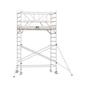 5.20m werkhoogte x 135cm breedte x 190cm platformlengte