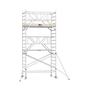 6.20m werkhoogte x 135cm breedte x 190cm platformlengte