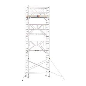 9.20m werkhoogte x 135cm breedte x 190cm platformlengte