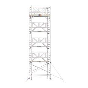 10.20m werkhoogte x 135cm breedte x 190cm platformlengte