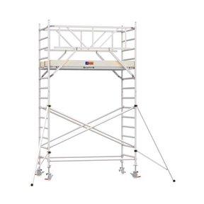 5.20m werkhoogte x 135cm breedte x 250cm platformlengte