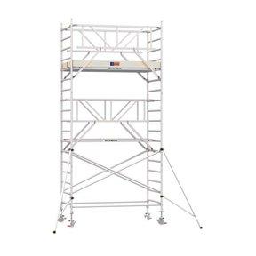 6.20m werkhoogte x 135cm breedte x 250cm platformlengte