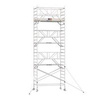 Professionele rolsteiger 8.20m werkhoogte x 135cm breedte x 250cm platformlengte