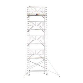 10.20m werkhoogte x 135cm breedte x 250cm platformlengte