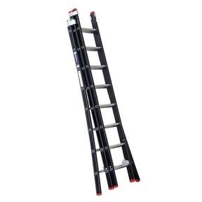 2.25 - 5.25m 3-delige Atlas black reformladder 3x8