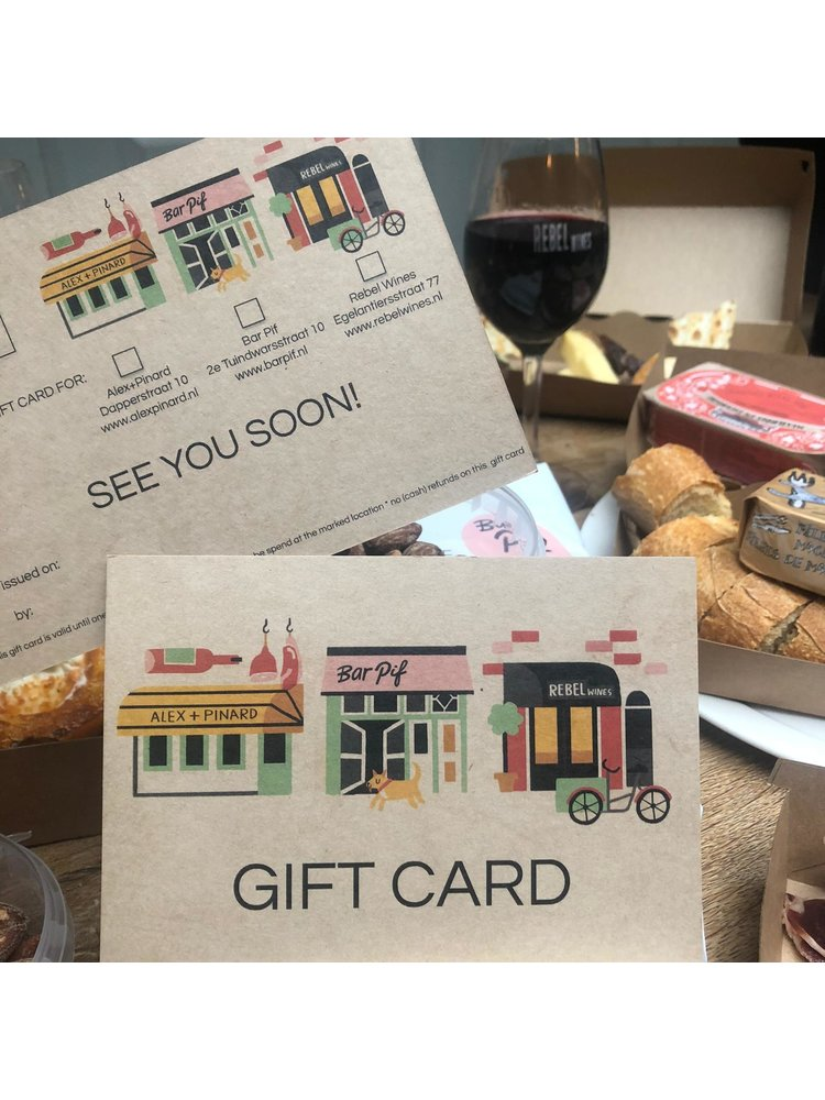 Gift Card Bar Pif