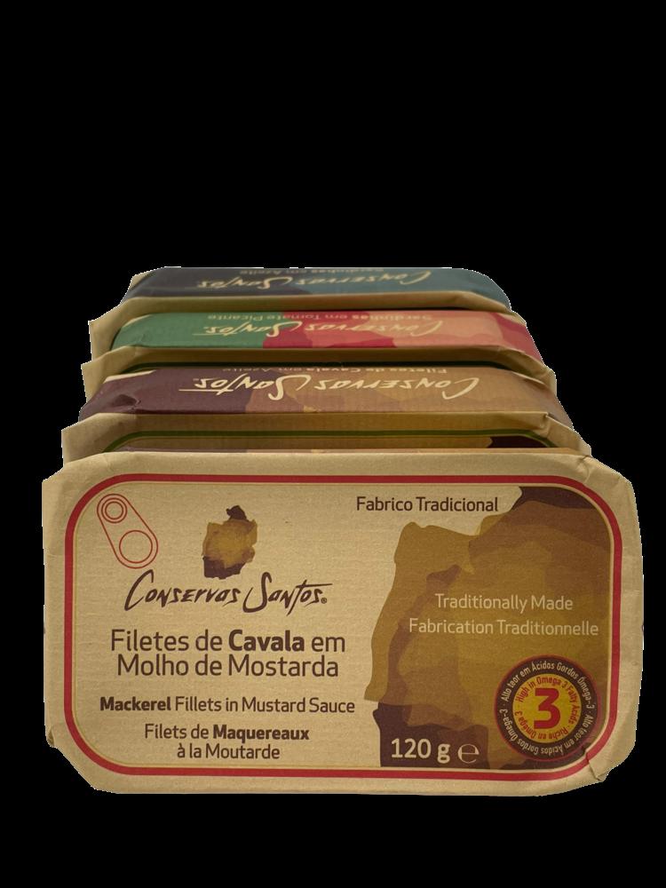 Conservos Santos Mackerel in mustard sauce