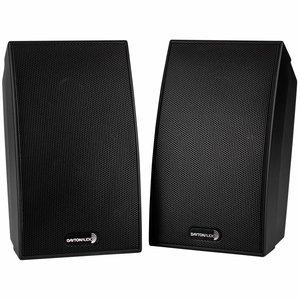 "Dayton Audio SAT-BK 3-3/4"" 2-Way Satellite Speaker Pair"
