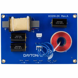 Dayton Audio XO2W-2K 2-Way Speaker Crossover 2,000 Hz