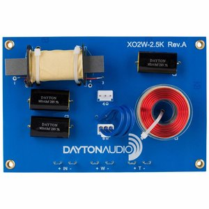 Dayton Audio XO2W-2.5K 2-Way Speaker Crossover 2,500 Hz
