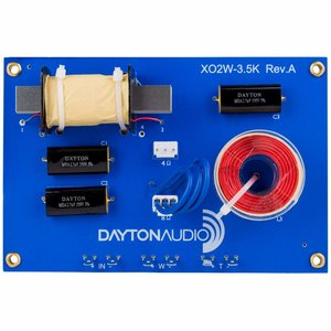 Dayton Audio XO2W-3.5K 2-Way Speaker Crossover 3,500 Hz