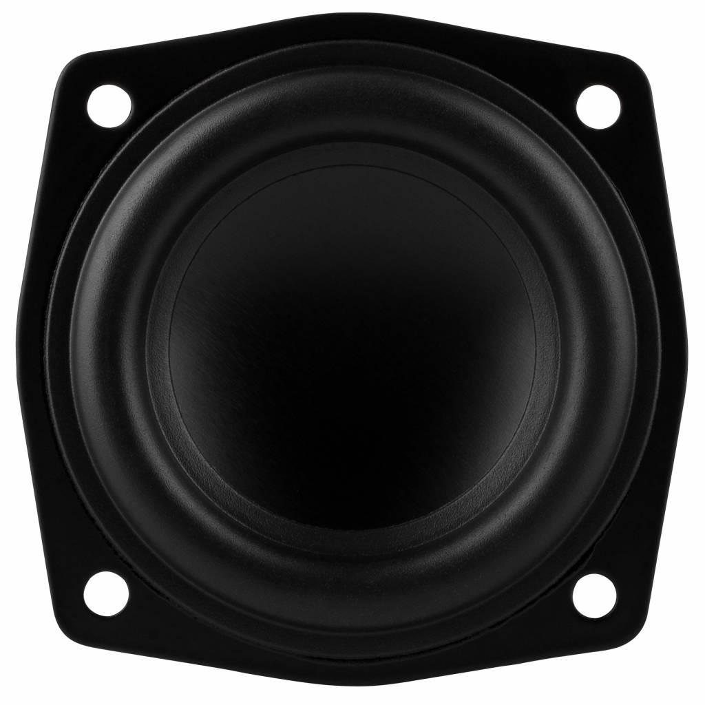 """2-1//2/"""" Full Range Neodymium Speaker Shielded 4 Ohm Woofer Midrange Rubber 2.5"""
