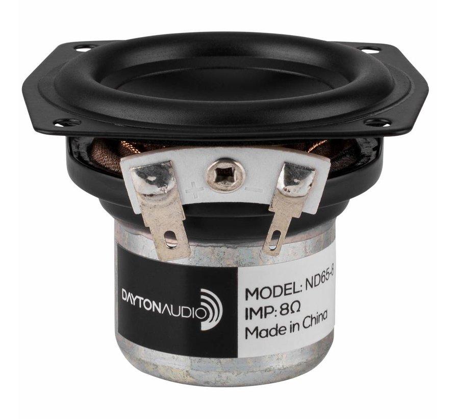 "ND65-8 2-1/2"" Aluminum Cone Full-Range Driver 8 Ohm"