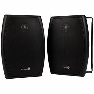 """Dayton Audio IO525B 5-1/4"""" 2-Way Indoor/Outdoor Speaker Pair Black"""