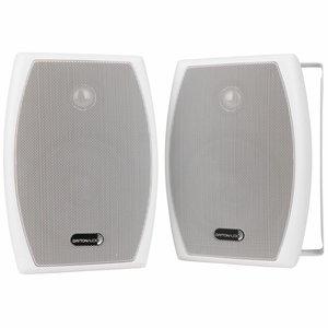"Dayton Audio IO525WT 5-1/4"" 2-Way 70V Indoor/Outdoor Speaker Pair White"