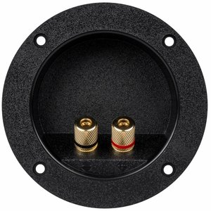 Gold Banana 5-Way Binding Post Round Recessed Speaker Terminal Cup