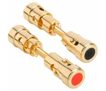 Dual-Ended Gold Binding Post Speaker Terminal Pair