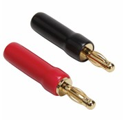 Gold Plated Screw Type Banana Plugs 18-12 AWG 1 Pair