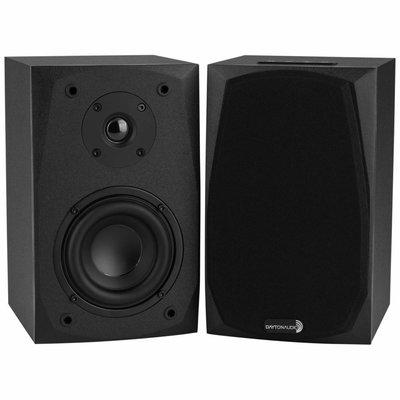 Dayton Audio MK402BT Powered Bluetooth 2-Way Bookshelf Speaker Pair with 3.5mm Aux In
