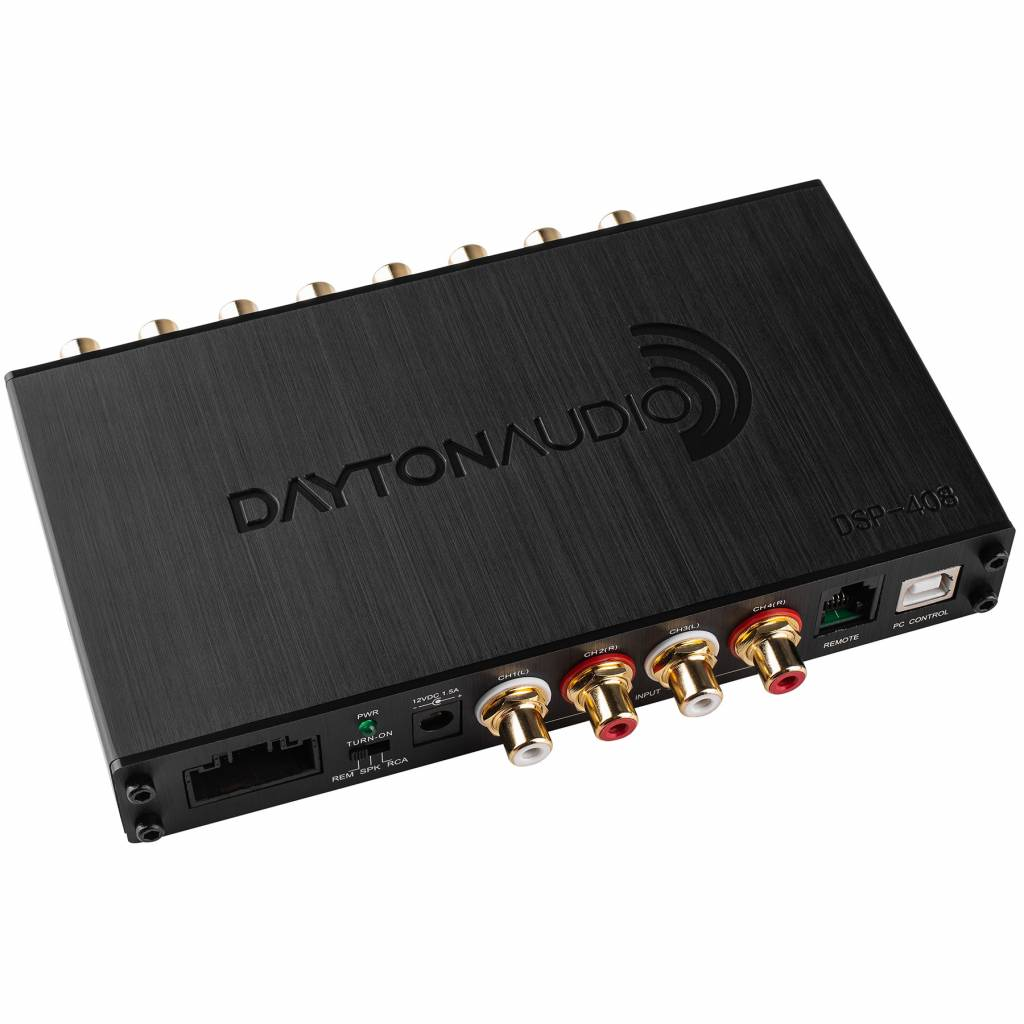 dayton audio dsp 408 4x8 dsp digital signal processor for home and