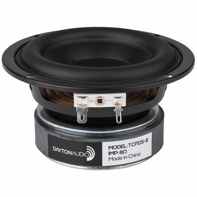 "Dayton Audio TCP115-8 4"" Treated Paper Cone Woofer"