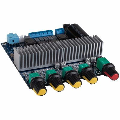 2 x 50W + 100W Class D 2.1 Bluetooth 4.0 Amplifier Board with Filter and Volume Controls