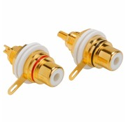 Gold Chassis Mount RCA Jack Pair