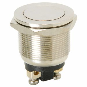 Momentary N.O. Metal Flat Push Button Switch