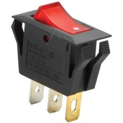 SPST Rocker Switch with Neon Lamp