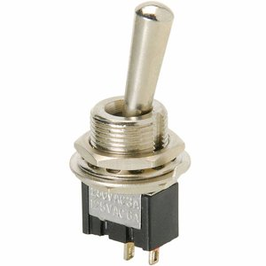 SPST Mini Toggle Switch with Tapered Knob