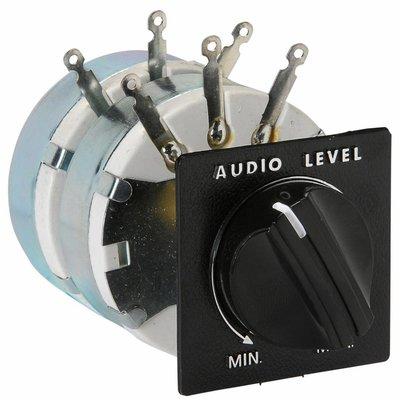 """Speaker L-Pad Attenuator 100W Stereo 1"""" Shaft 8 Ohm"""