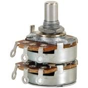 "Audio Taper Stereo Potentiometer 1/4"" Shaft"