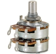 "Audio Taper Stereo Potentiometer 1/4"" Shaft"