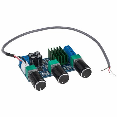 2 x 50W Class D Stereo Amplifier Board with Volume and Tone Controls - TPA3116D2